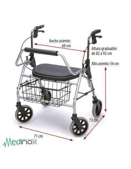 Caminador Obesos medidas