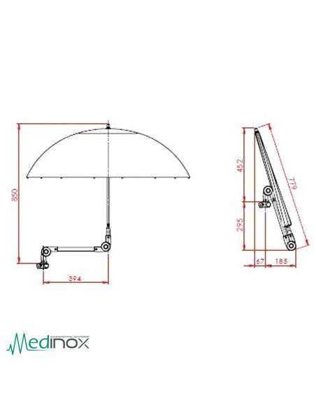 Parasol silla ruedas