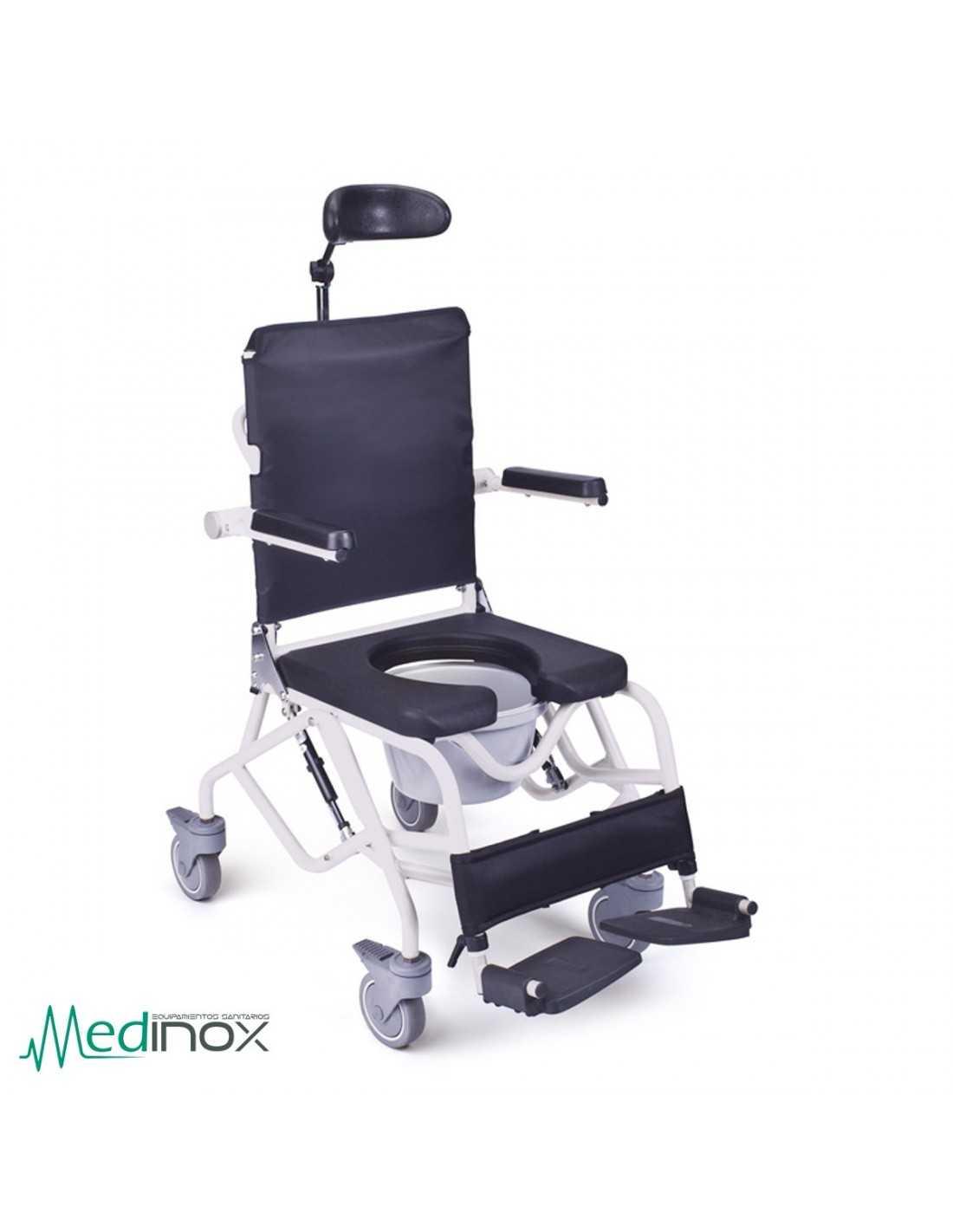 Sillas para ducha con ruedas ayad820 silla con inodoro for Sillas para ducha