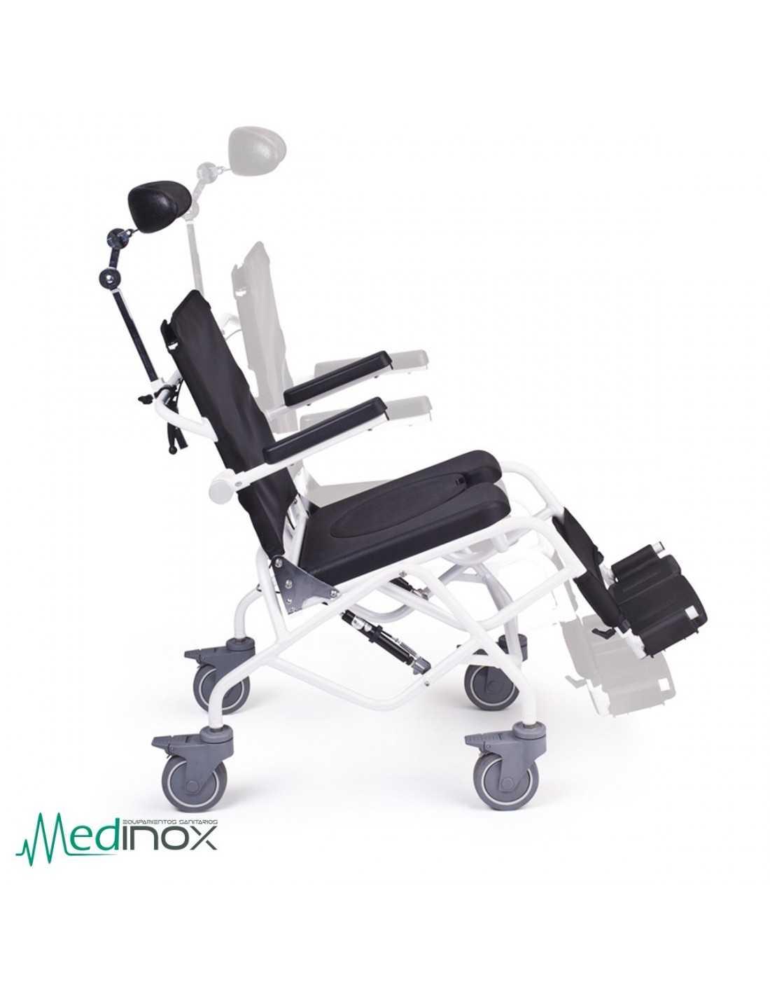 Sillas para ducha con ruedas ayad820 silla con inodoro - Altura para ir sin silla en el coche ...