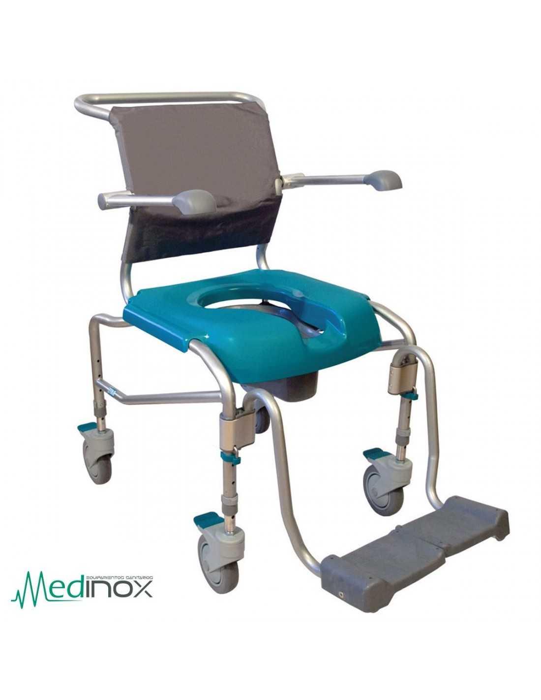 Sillas para ducha con ruedas ayad808 silla con inodoro para ba o - Silla de ducha ...