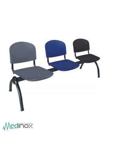Bancada con asientos tapizados MOMDB3T
