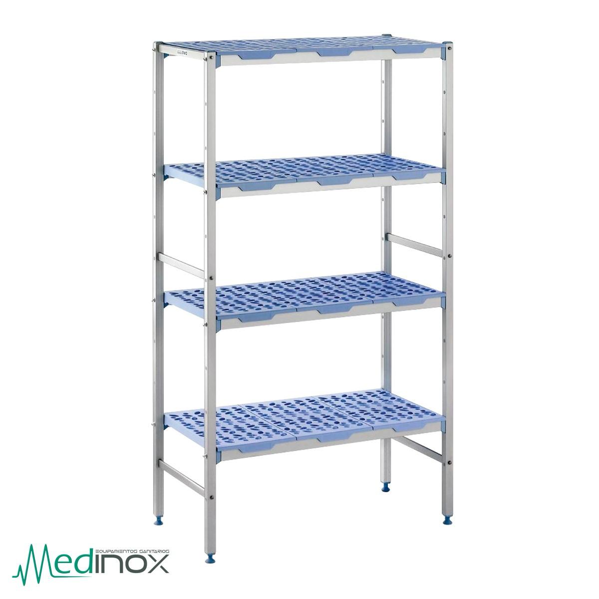 Estanterias metalicas NIGM600, estanterias industriales con 4 estantes
