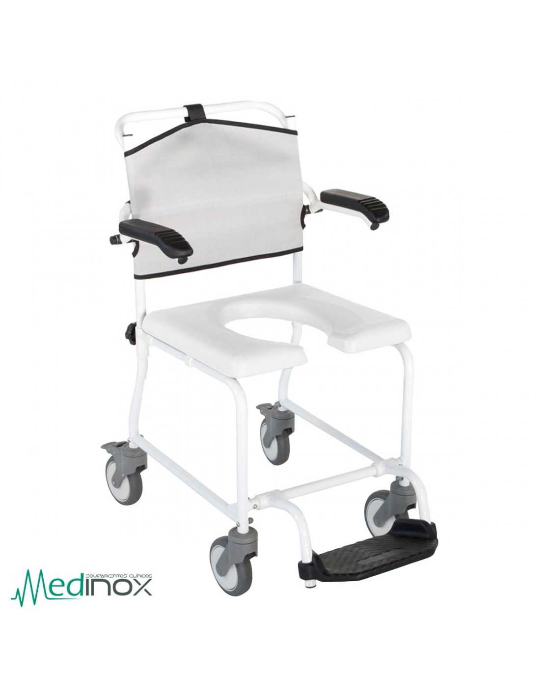 Silla para ducha con ruedas ayad809 silla ba o con ruedas resistente - Silla de bano con ruedas ...