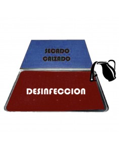 Conjunto alfombra de desinfeccion sanitaria + felpudo secado
