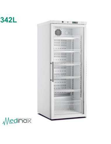 Frigorifico farmacia 350L puerta cristal CLARV-350-PV