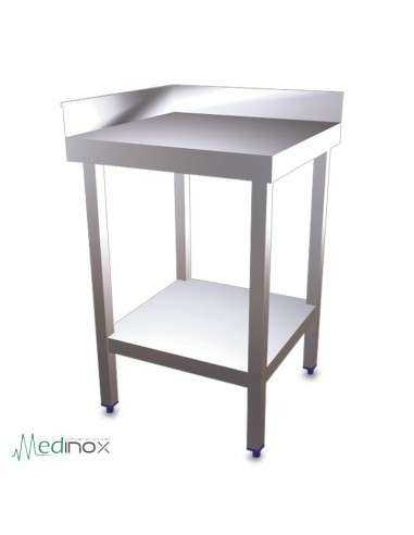 Mesa de esquina en inox FS074802