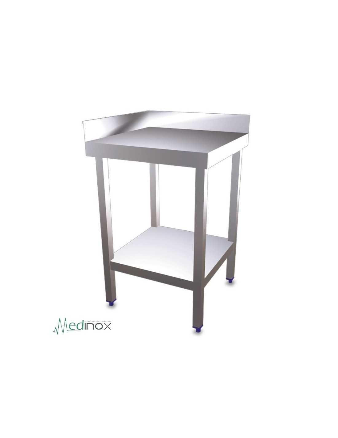 Mesa de esquina con estantente fs074602 mural patas 4x4cm for Mesas para esquinas