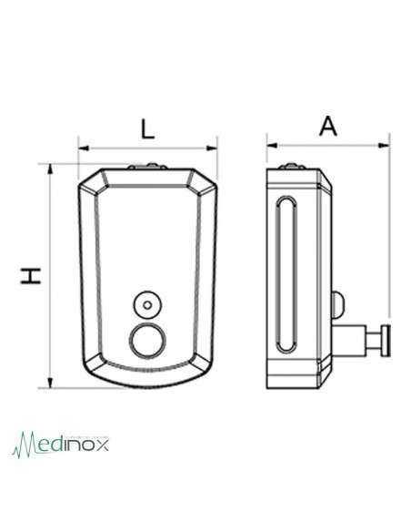 Dosificador jabón INOX FS460219
