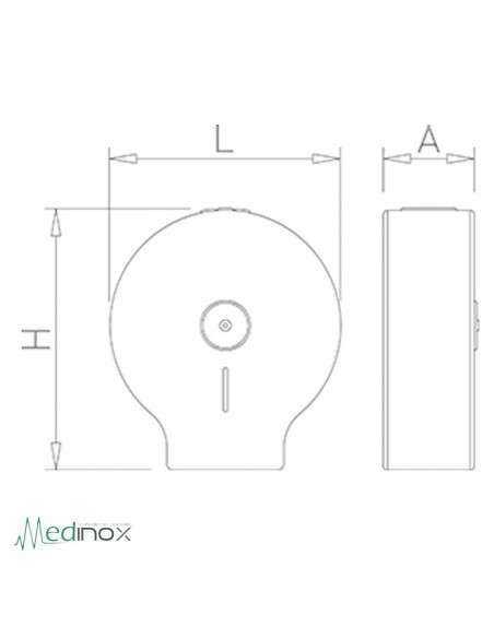 Portarrollos papel INOX FS460212