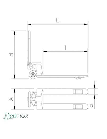 Transpaleta Acero Inoxidable FS480228