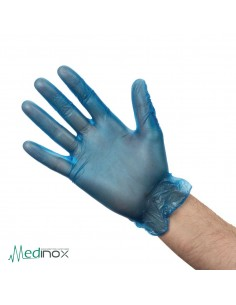 Guantes de vinilo azul NICB254