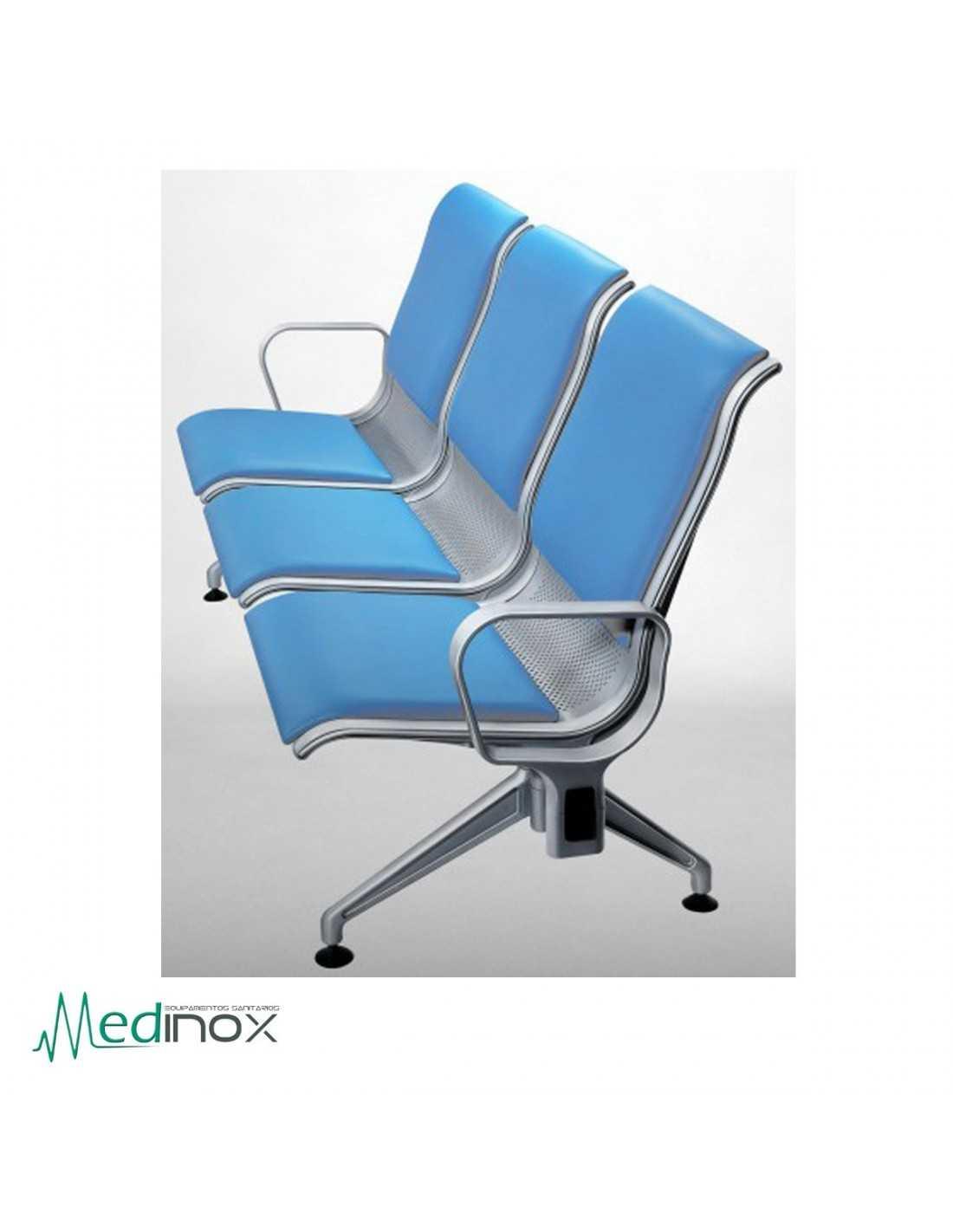 Sillas sala espera rljava3 bancada 3 sillas de espera en for Sillas sala de espera