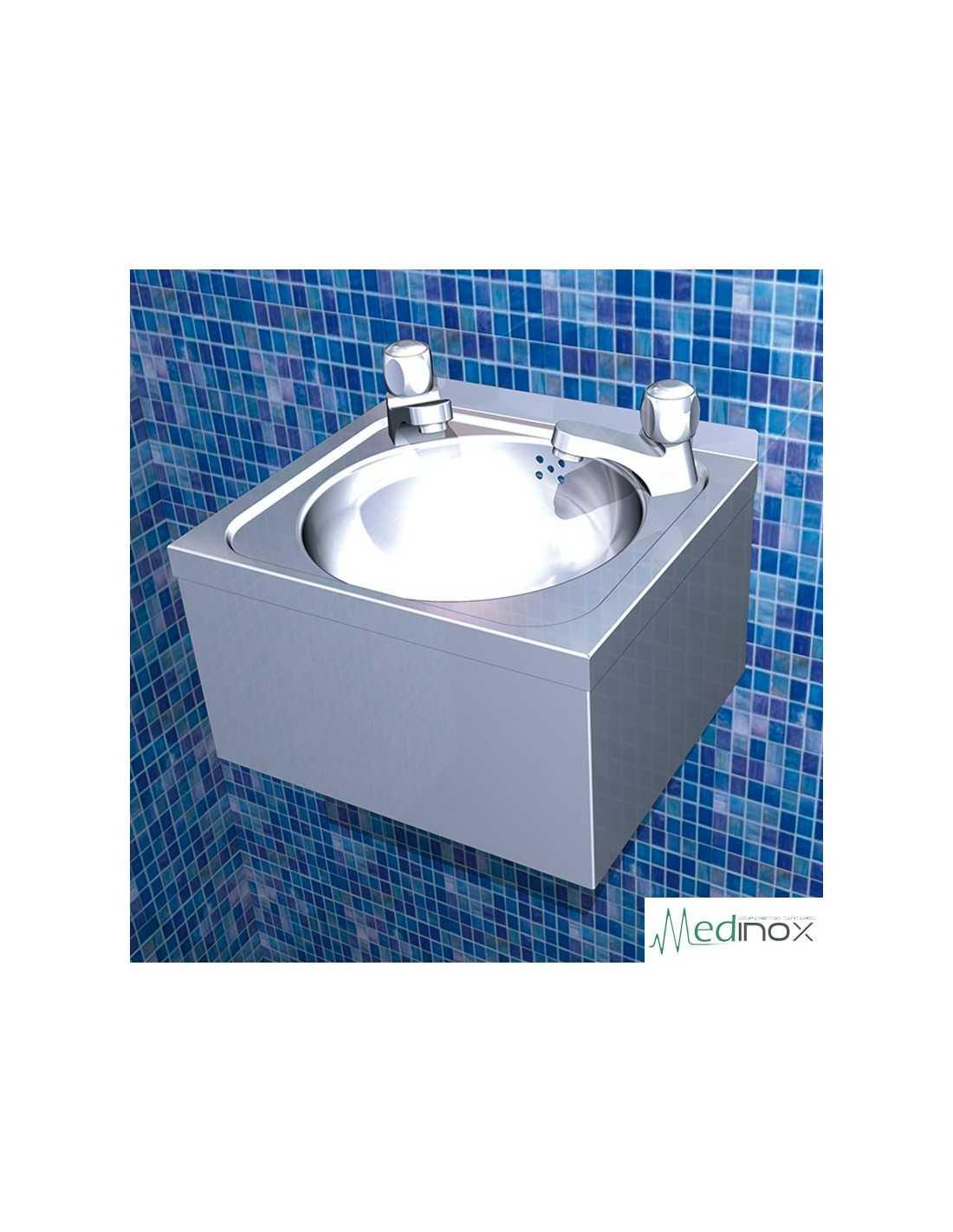 Lavamanos dos aguas mural fs061432 en acero inoxidable dos for Lavamanos mural
