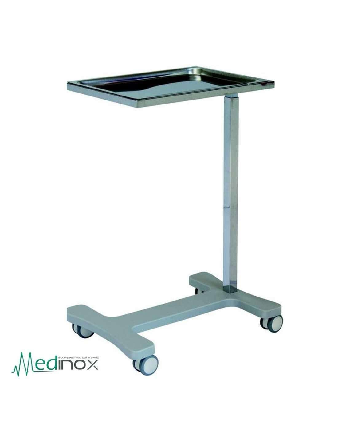 Mesa auxiliar con ruedas ic14540 para instrumental medico for Mesa de ordenador con ruedas