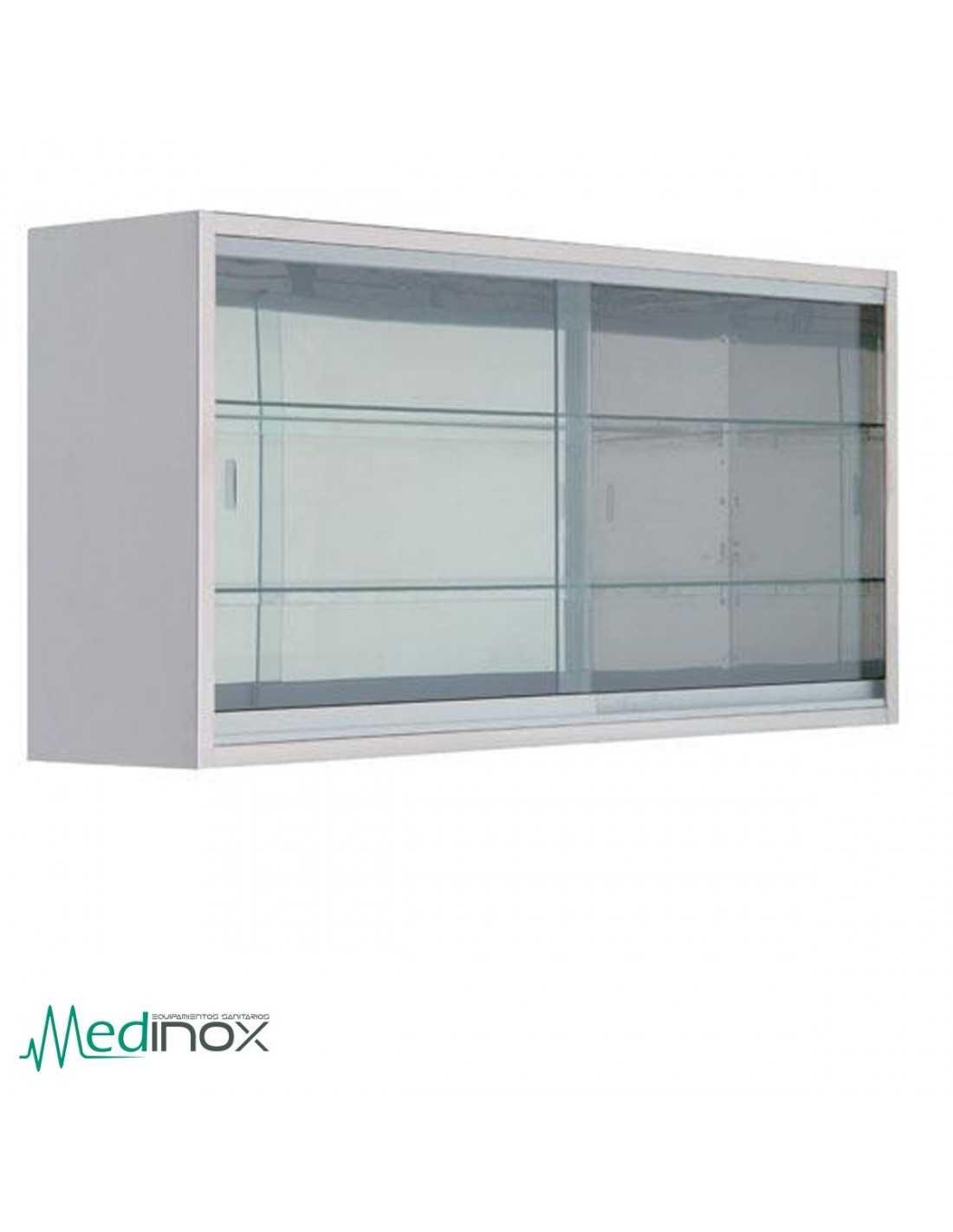 Vitrinas de pared ic24156 para medicamentos 120 l x 30 l - Vitrinas de pared para colecciones ...