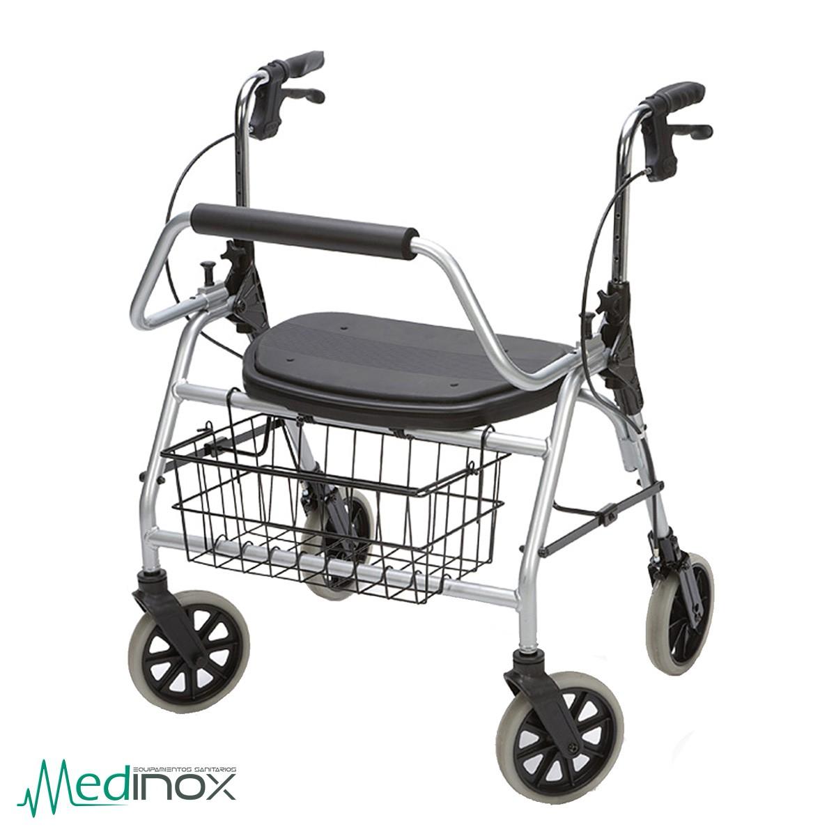 Andador con asiento para obesos - Medinox